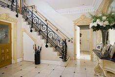 Marble flooring in the hallway
