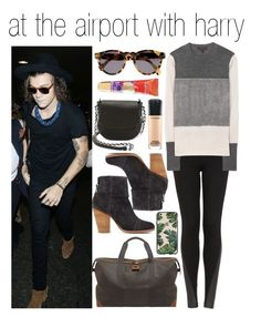 """at the airport with harry"" by cheerleader1993 ❤ liked on Polyvore"