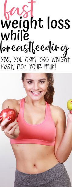 Here is the fast way to lose weight while breastfeeding that doesn't affect your milk! Weight Loss Workout Plan, Fast Weight Loss, Weight Loss Plans, Weight Loss Program, Weight Loss Tips, Lose Weight In A Week, Loose Weight, How To Lose Weight Fast, Losing Weight