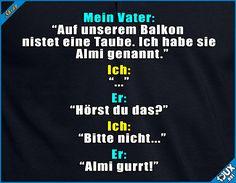 Väter und ihre Witze #Taube #Wortspiel #Wortspiele #Vaterwitz #Vaterwitze #Humor