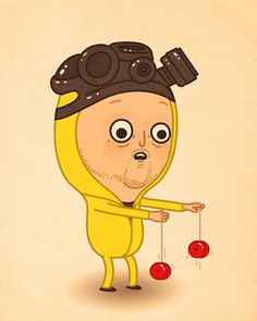 """""""The Cooks"""" by Mike Mitchell Last Monday was the opening of the """"Breaking Bad"""" Art Show presented by Breaking Gifs at the Gallery 1988 in Melrose, CA. Character Illustration, Illustration Art, Breaking Bad Art, Mike Mitchell, Really Good Movies, Fan Poster, Fanart, Painting For Kids, Children Painting"""
