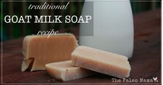 This nourishing goat milk soap that uses the traditional process (cold process) is so easy to make! The healthy fats and oils in the mixture will give you a deeply moisturizing bar that lathers well and removes dirt!