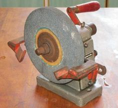 Buy Vintage industrial hand crank bench grinder / knife sharpener by Henry Boker Germany for R301.00