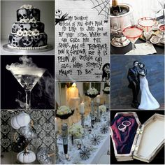 offbeat halloween wedding ideas....can't I just have a party with this theme? Lol