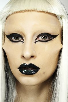 Lady Gaga  makeup by Val Garland