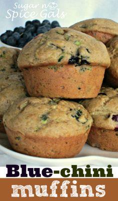 Zucchini Blueberry Muffins (Blue-chini Muffins) on MyRecipeMagic.com