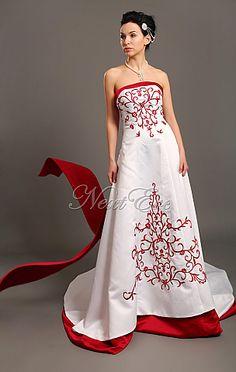 Wedding Dresses With Color   Formal Wedding Dresses: Red Color ...