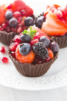 3 Ingredient Chocolate Berry Cups Recipe
