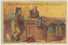 1800s-Helpmate-Sewing-Machine-Victorian-Trade-Card-Hobo-Bum-Tailor-Shop