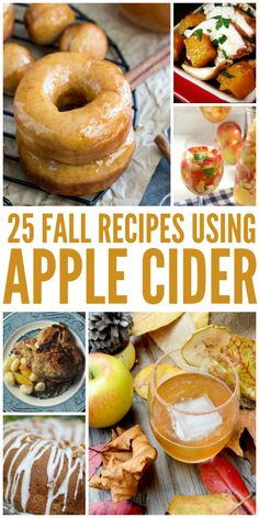 Looking to find recipes using apple cider? Find out how you can turn that drink into a delicious fall recipe with some of this inspiration.