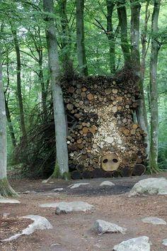 fire wood art