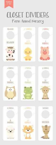 #nursery #nurserydecor #nurseryart #nurseryideas #farm #farmanimals #cow #horse #pig #duck #goat Cow Nursery, Farm Animal Nursery, Baby Farm Animals, Farm Themed Nursery, Baby Closet Dividers, Rosalie, Toddler Gifts, Baby Boy Nurseries, Nursery Themes