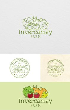 Create a logo for a new online shop (door to door fruit and veg delivery)