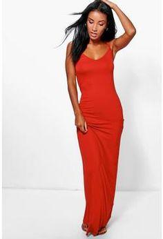 22c3665b6019a9 Hedda Basic Strappy Cami Maxi Dress Strappy Maxi Dress