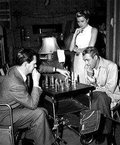 Jimmy, Grace and Wendell on the Rear Window set.