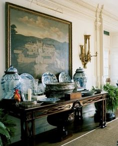 DESIGNERS' HOUSES: A look at the sophisticated country home in Kent, Connecticut with fashion and homewares designer, Oscar and Annette de la Renta...