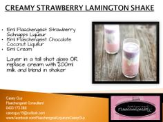 Creamy Strawberry Lamington Shake  Flaschengeist Strawberry Schnapps Liqueur and Flaschengeist Chocolate Coconut Liqueur