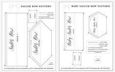 DIY Sailor Bow tutorial and free pattern girls hair bow Dalmatian bow hair bow tutorial template free download  NatalieMalan.com