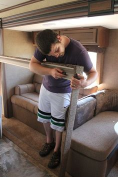 Removing the valences and blinds in the RV? Check out my blog on when we remodeled the RV we own.