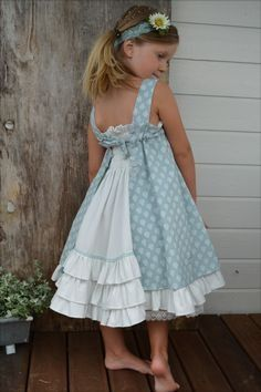 Dresses For Tweens, Little Girl Outfits, Little Girl Fashion, Little Girl Dresses, Baby Outfits, Fashion Kids, Kids Outfits, Girls Dresses, Fashion Sewing