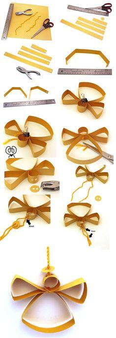 angel de papel craft