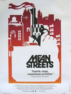 Directed by Martin Scorsese and co-written by Scorsese and Mardik Marti. This film was the first time that Martin Scorsese and Robert De Niro collaborated - a successful union that saw them work on a further seven films together. Martin Scorsese, Mafia, Little Italy, Taxi Driver, Meryl Streep, Stanley Kubrick, Alfred Hitchcock, Street Film, Robert De Niro