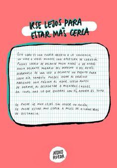 Así es el libro: Irse lejos para estar más cerca de Nono Rueda