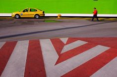 #Yellow cab #streetphotography #candid #red #green