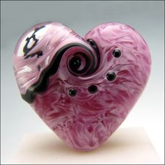 rose lampworked bads   ROSE BOUQUET - Lampwork Heart Focal Bead   Flickr - Photo Sharing!