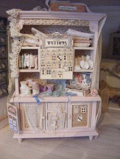 12th scale shabby chic haberdashery by shabbychicminis on Etsy, $125.00