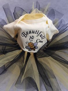 Beautiful as can bee! Tutu by AMJ Embroidery  Tutu set as well as embroidery design for sale on our online shop: www.amjembroidery.co.za