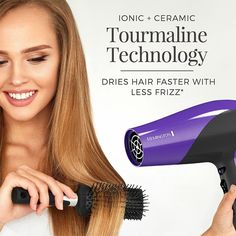 Remington Damage Protection Hair Dryer with Ceramic + Ionic + Tourmaline Technology, Purple Hair Dryer Reviews, Straight Hairstyles, Cool Hairstyles, Best Affordable Hair Dryer, Remington Hair, Ionic Hair Dryer, Waist Length Hair, Best Hair Dryer, Dry Hair