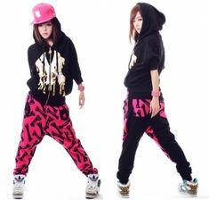 Street dance wear/ harem pants women, printed stage performance /hip hop pants/sports sweatpants for girls, Free shipping(China (Mainland))