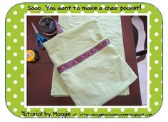 Maggie's Kinder Corner: Sooo...you are thinking of making your own Chair Pockets? My Tutorial!