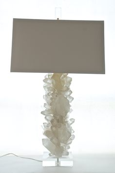 Quartz Crystal Lamp With Acrylic Base. Each One Of A Kind Lamp
