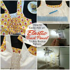 I do this all the time now. Great for maternity, kids, or just flexible fit clothes sewing. Easy to follow tutorial for putting in an elastic back panel.