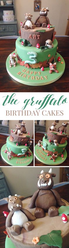 CAKE CLUB | THE GRUFFALO BIRTHDAY CAKES featuring all the characters, the Gruffalo & Gruffalo'sChild