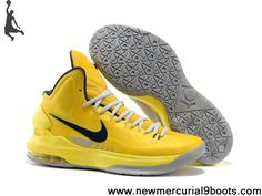 Yellow Grey 554988 700 Nike Zoom KD V Basketball Shoes Store