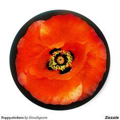 Poppy,stickers Classic Round Sticker