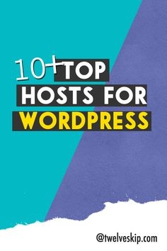 Web Hosting For Wordpress: http://www.twelveskip.com/guide/blogging/75/best-web-hosts-for-wordpress