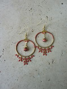 Image of Boucles d'oreille créoles INDIA Rouille -30%