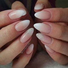 Elegant bridal nails Enchanting ideas for your DIY wedding manicure On your big day of course yo - French Nails, Glitter French Manicure, French Manicure Designs, Nails Design, Wedding Manicure, Wedding Nails For Bride, Bride Nails, Diy Wedding, Trendy Wedding