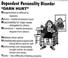 Dependent Personality disorder--Mnemonic to remember the symptoms!!