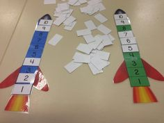 Play this game to help students practise counting down from My students love counting down from 10 on the mat and saying 'Blast off' so I thought they would love a game involving it. Space Preschool, Preschool Math, Math Classroom, Kindergarten Math, Teaching Math, Learning Numbers, Math Numbers, Math Stations, Math Centers