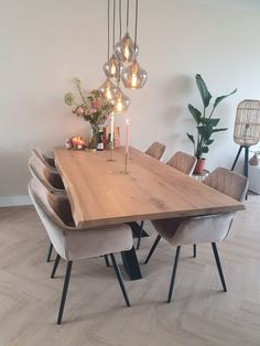 Small Living Room Design, Dining Room Design, Home Living Room, Living Room Decor, Small Dinner Table, Dinning Set, Dinner Room, Dining Room Inspiration, Deco Table