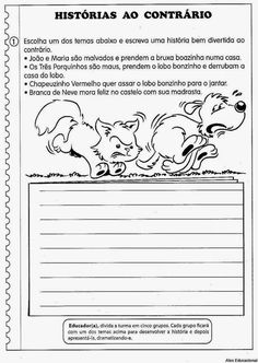 80 Atividades de Produção textual ou redação para o 4º Ano - Criação de texto e trabalho da escrita - ESPAÇO EDUCAR Professor, Bullet Journal, Writing, Reading, Angel, School, Disney, Writing Activities, Sight Word Activities