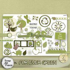 Kit For Ever Green par LeaUgoScrap [LeaUgoScrap] - €3.00 : Boutique ScrapFromFrance