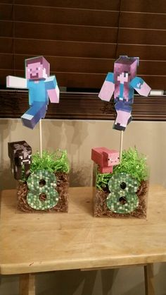 Minecraft centerpieces