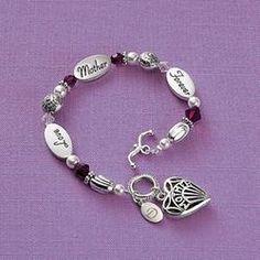 Personalized Mother Sentiment Bracelet