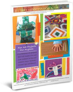 Fun Art Projects for Anytime Ebook cover for artlessonsforkids.me